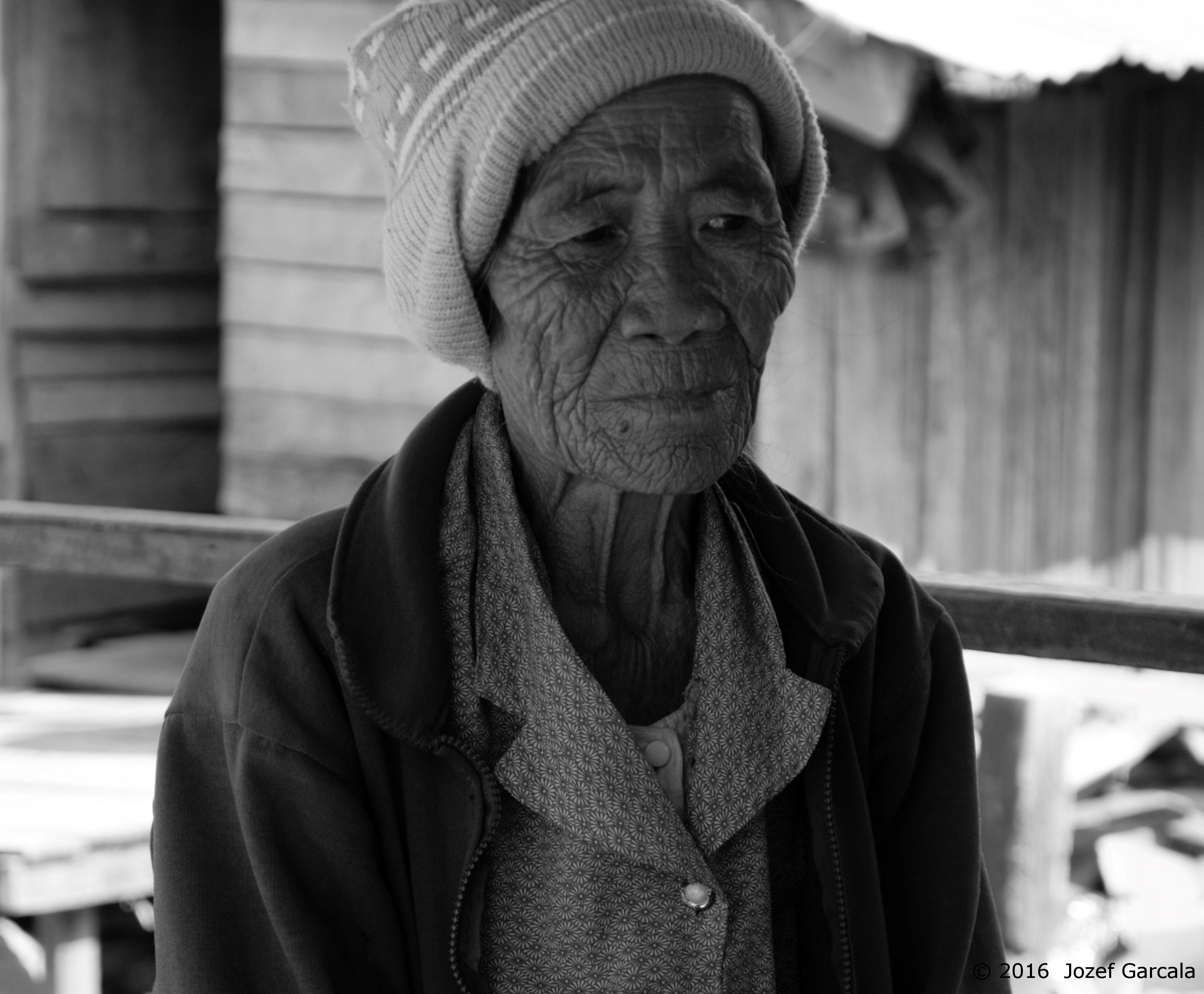 An old lady in Ban Na Hin village Laos